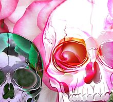 """Skulls and roses  """"I'm watching you"""" by JoAnnFineArt"""