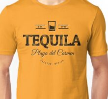 Tequila Vintage Typography Badge Unisex T-Shirt