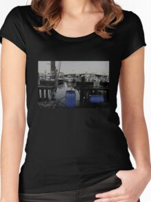 Blue Barrels at the Marina Women's Fitted Scoop T-Shirt