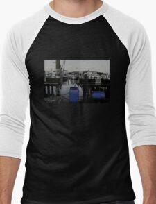 Blue Barrels at the Marina Men's Baseball ¾ T-Shirt