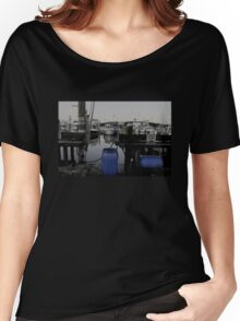 Blue Barrels at the Marina Women's Relaxed Fit T-Shirt
