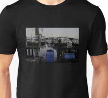 Blue Barrels at the Marina Unisex T-Shirt