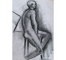 The sitting Charcoal Man Photographic Print