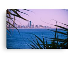 View back to Surfers Paradise Canvas Print