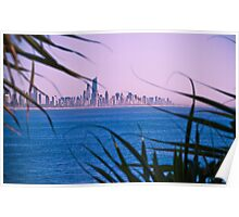 View back to Surfers Paradise Poster