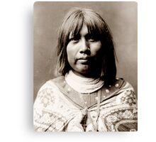 Native American Portrait: O Che Che - Mohave Woman Canvas Print