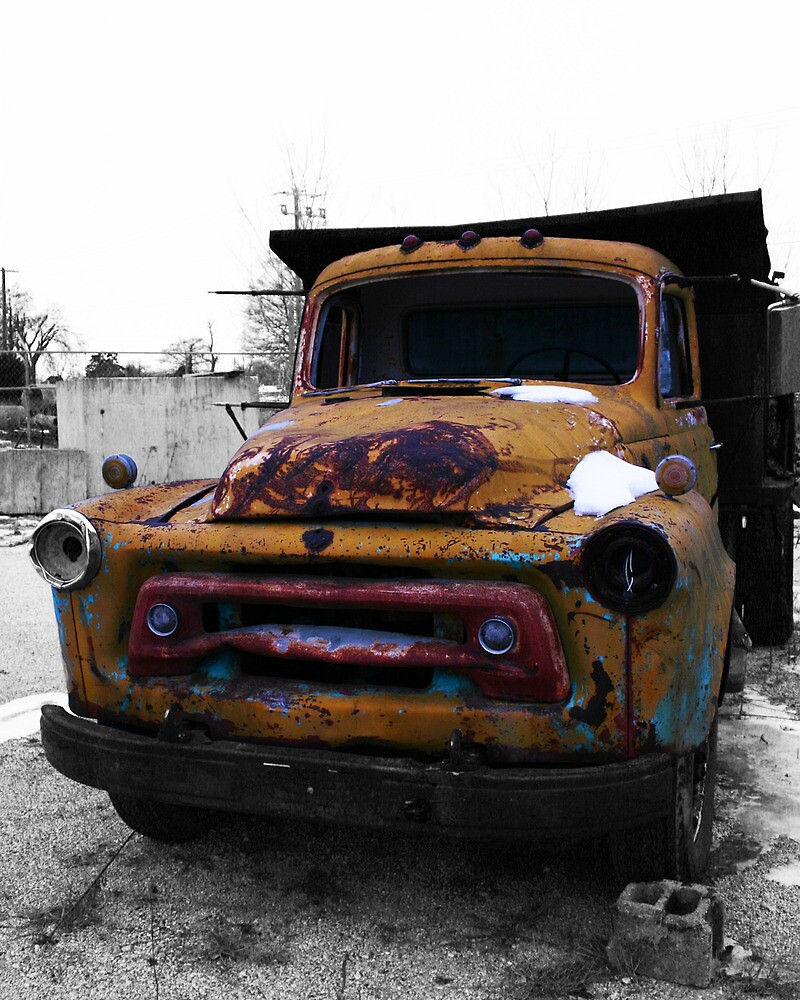 Yellow Dump Truck by Benjamin Sloma