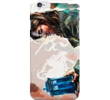 Clara Oswald and the tiny TARDIS iPhone Case/Skin
