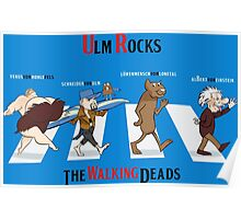 Ulm Rocks With The Walking Deads - Blue Poster