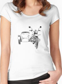 Sidecar motorcycle Women's Fitted Scoop T-Shirt