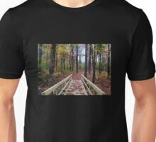 Bridge in the Autumn Forest Unisex T-Shirt