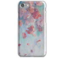 Abstract Soft Floating Flowers palette Knife Textured Painting iPhone Case/Skin