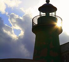 Solar powered lighthouse! by Christine Oakley