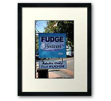 Adults Only Fudge Framed Print