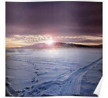 Frozen Utah Lake Poster
