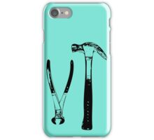 Hand Tools - Hammer and Pincers iPhone Case/Skin
