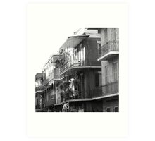 French Quarter Balconies Art Print