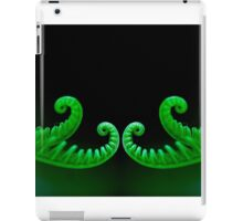 mirror image of a double curl iPad Case/Skin