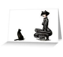 Cat Woman Greeting Card