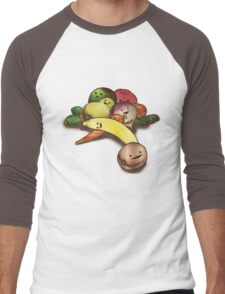 Fruit with Faces  Men's Baseball ¾ T-Shirt