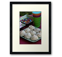 Kids Party -  Vanilla Meringues Framed Print