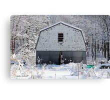 Old Barn after the Snow Canvas Print