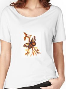 Reflections of Gold - Butterfly Women's Relaxed Fit T-Shirt