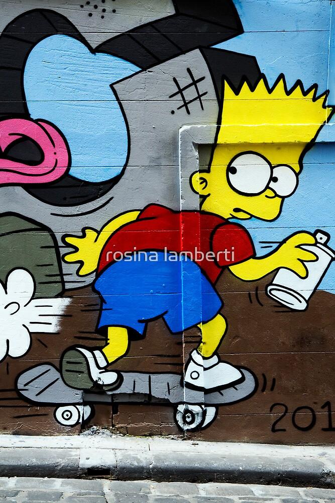 Graffiti - Bart on the Run by Rosina  Lamberti