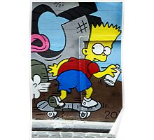 Graffiti - Bart on the Run Poster