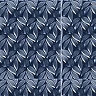 Blue leaves design for Leggings, cases ,Pillows,Totes ( 3179 views) by aldona