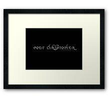 Poet Christopher Logo Design Framed Print