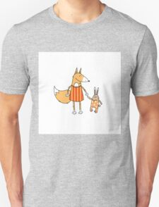 Fox and hare. Unisex T-Shirt