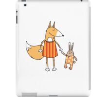 Fox and hare. iPad Case/Skin
