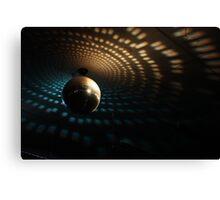 Disco Ball - Orange/Blue Canvas Print