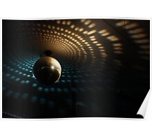 Disco Ball - Orange/Blue Poster