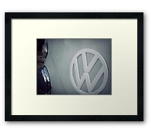 Split screen volkswagen Framed Print