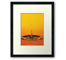 Water drop Framed Print