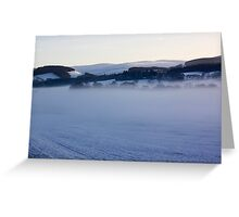 Freezing Fog Over The Tweed Greeting Card