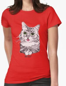 Lil' Bub Kitty - Meow! Womens Fitted T-Shirt