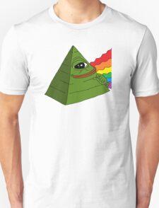 Illuminati pepe - Dark side of the pepe.  Unisex T-Shirt