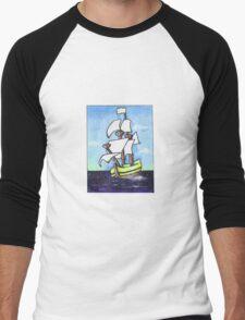 Sail Away Men's Baseball ¾ T-Shirt