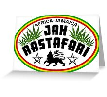 Africa Jamaica Jah Rastafari Greeting Card