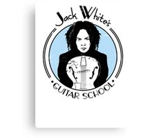 Jack White's Guitar School Canvas Print