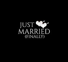 Just Married (Finally) Tuxedo Heart Tie by LiveLoudGraphic