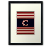 BROOKLINER BOSTON 1920s MONOGRAM initial  C Framed Print