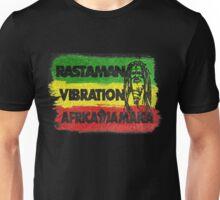 Rastaman Vibration Africa Jamaica Unisex T-Shirt