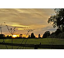 Obscured Countryside Sunset  Photographic Print