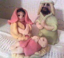 Holy family by Susanna Saxberg-Tesmala