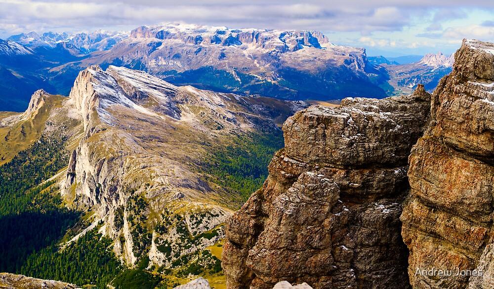 View from Monte Lagazuoi, Dolomiti, Italy by Andrew Jones