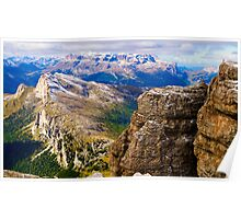 View from Monte Lagazuoi, Dolomiti, Italy Poster